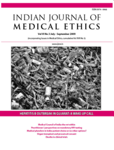 Indian Medical Journal of Medical Ethics