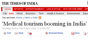 Medical Tourism Booming