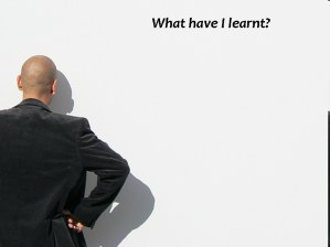 What have I learnt? (img src - flickr)